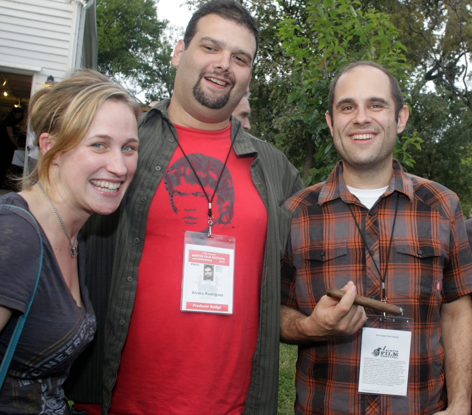 Pamela Ribon, Álvaro Rodríguez and Craig Mazin at the 2010 Film Texas BBQ. Photo credit Jack Plunkett.