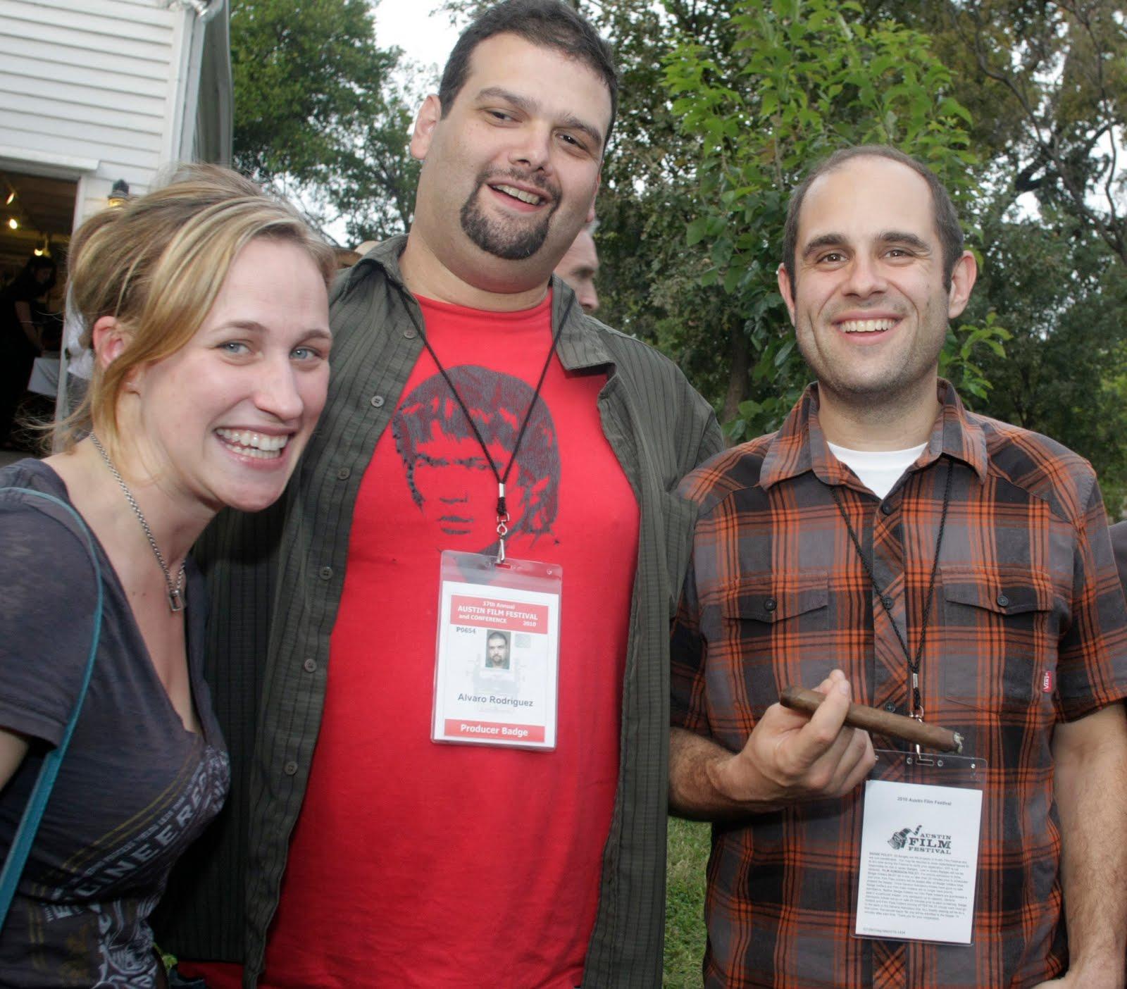 Pamela Ribon, Álvaro Rodríguez and Craig Mazin at the 2010 Film Texas BBQ. Photo credit Jack Plunkett.